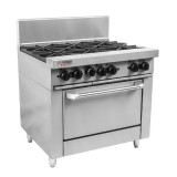 True Heat RCR9-6 6 Burner Oven
