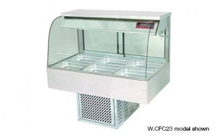 Woodson W.CFC23 3 Module Curved Cold Food Display