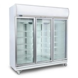Bromic GD1500LF Flat Glass Door 1507L LED Upright Display Chiller