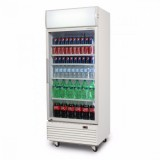 Bromic GM0660LW LED ECO Flat Glass Door 660L Upright Display Chiller with Lightbox